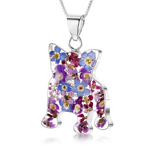 Silver Pendant - Purple Haze - French Bulldog
