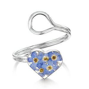 Silver Ring - Forget-Me-Not - Heart