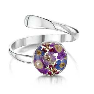 Silver Ring - Purple Haze - Round