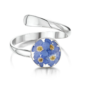 Silver Ring - Forget-Me-Not - Round