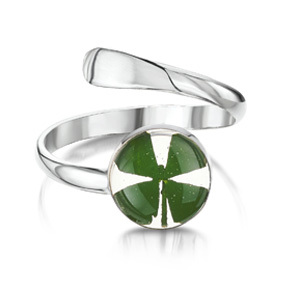 Silver Ring - Four Leaf Clover - Round