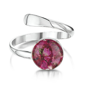 Silver Ring - Heather - Round