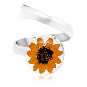 Silver Ring - Sunflower - Round