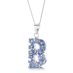 Silver Pendant - Forget-Me-Not - B