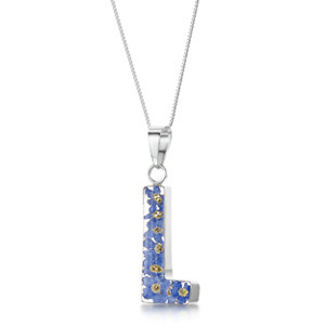 Silver Pendant - Forget-Me-Not - L