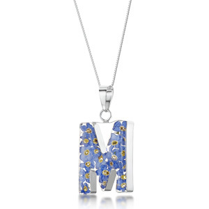 Silver Pendant - Forget-Me-Not - M