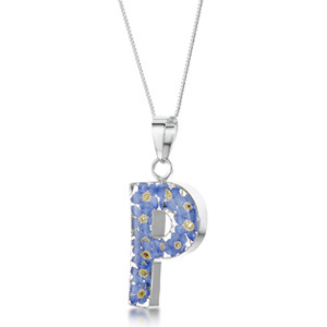 Silver Pendant - Forget-Me-Not - P