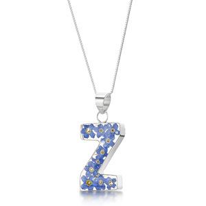 Silver Pendant - Forget-Me-Not - Z