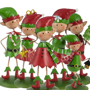 Christmas Elf Collection Garden Ornament Pack