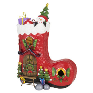 Christmas Stocking House Garden Ornament