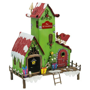 Christmas Elf Workshop Garden Ornament