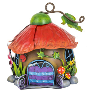 Poppy Fairy House Garden Ornament