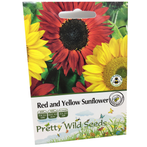 Red & Yellow Sunflower Seeds; 1 Pack Each