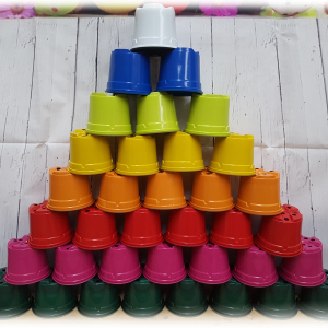 9cm Bright Coloured Thermoformed Plant Pots